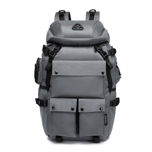 Ozuko 9279 Large Capacity Outdoor Hunting Ps5 Sneaker Custom Military Tactical Hiking Waterproof Travel Backpack (gray)