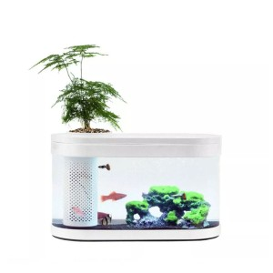Xiaomi Hfjh Geometry Aquarium Small Water Garden - White