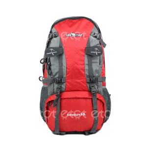 Can Torp 60 Ltr Outdoor Sports Mountaineering Waterproof Travel Backpack With Rain Cover (red)