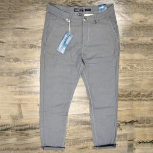 Men's Gabardine Super Slim Fit Twill Pants (grey)