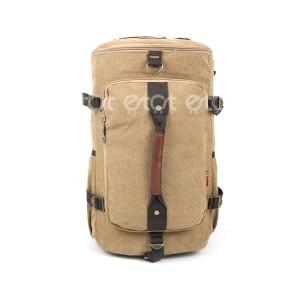 Jin Ling Di 1723# 23l Premium Quality Stylish Shoulder Travel Duffle Hiking Mounterian Sports Bag (brown)