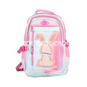 Li Bang Da Fashion 9887 18l School Collage Backpack (multi Color)