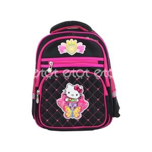 Lingtong 8617 14 Inch Cartoon Character Kids School Backpack (black)