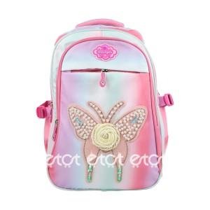 Li Bang Da Fashion 7920 18l Butterfly School Collage Backpack (multi Color)