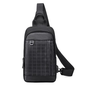 Golden Wolf Gxb00124 Fashion Messenger Stylish And Professional Single Strap Crossbody Shoulder Bags (black)